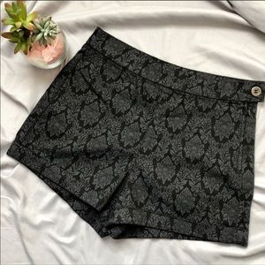 Forever 21 Side Zipper Shorts 25 Black Grey Cotton